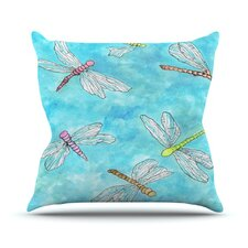 Dragonfly by Rosie Brown Throw Pillow