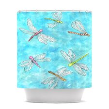 Dragonfly Polyester Shower Curtain