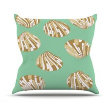 <strong>KESS InHouse</strong> Scallop Shells Throw Pillow