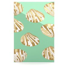 Scallop Shells Floating Art Panel