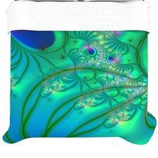 """""""Fractal Turquoise"""" Woven Comforter Duvet Cover"""