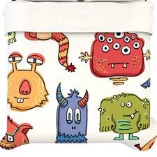 """""""Little Monsters"""" Woven Comforter Duvet Cover"""