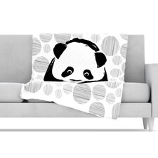Panda Microfiber Fleece Throw Blanket