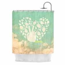 <strong>KESS InHouse</strong> Serenity Polyester Shower Curtain