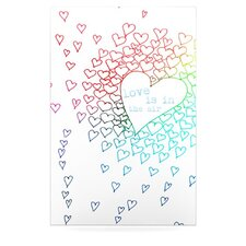 Rainbow Hearts Floating Art Panel