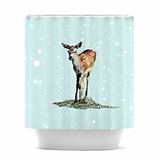 Fawn Polyester Shower Curtain