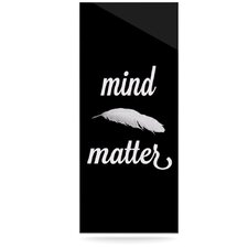 Mind Over Matter by Skye Zambrana Textual Art Plaque