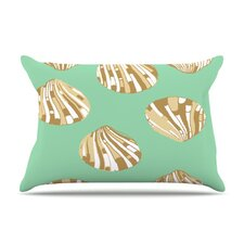Scallop Shells Fleece Pillow Case