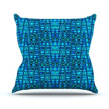 Variblue by Nina May Throw Pillow
