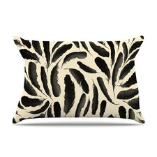 Feather Pattern Fleece Pillow Case