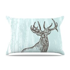 Elk Scene Fleece Pillow Case