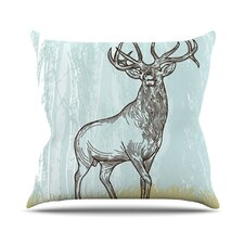 Elk Scene Throw Pillow