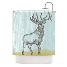 Elk Scene Polyester Shower Curtain