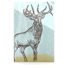 Elk Scene Floating Art Panel