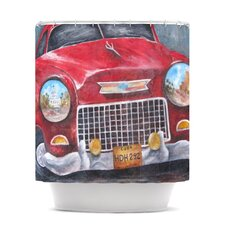 Vintage in Cuba Polyester Shower Curtain