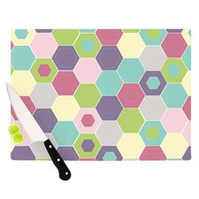 Pale Bee Hex Cutting Board