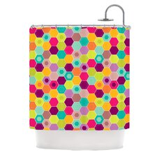 Arabian Bee Polyester Shower Curtain