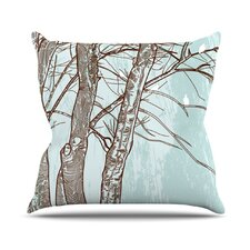 <strong>KESS InHouse</strong> Winter Trees Throw Pillow