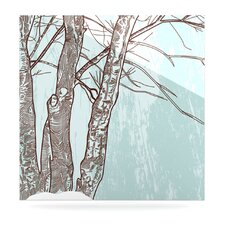 Winter Trees by Sam Posnick Painting Print Plaque