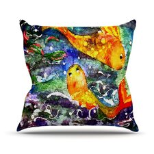 <strong>KESS InHouse</strong> Fantasy Fish Throw Pillow