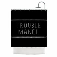Trouble Maker Polyester Shower Curtain
