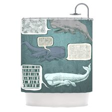 Whale Talk Polyester Shower Curtain