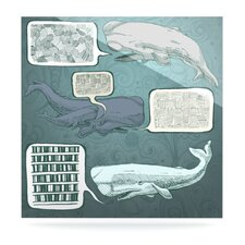 Whale Talk by Sophy Tuttle Graphic Art Plaque