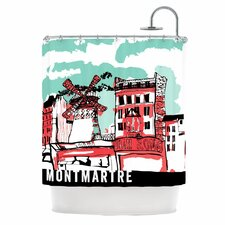Montmartre Polyester Shower Curtain