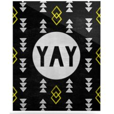Yay by Skye Zambrana Graphic Art Plaque