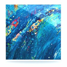 Big Wave by Theresa Giolzetti Painting Print Plaque