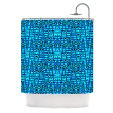 Variblue Polyester Shower Curtain
