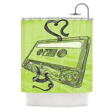 Mixtape Polyester Shower Curtain