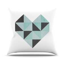 Geo Heart Throw Pillow