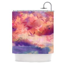 Souffle Sky Polyester Shower Curtain