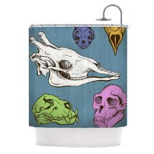 <strong>KESS InHouse</strong> Skulls Polyester Shower Curtain