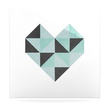 Geo Heart Floating Art Panel