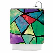 Stain Glass 1 Polyester Shower Curtain
