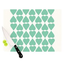 Diamond Hearts Cutting Board
