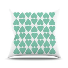 <strong>KESS InHouse</strong> Diamond Hearts Throw Pillow