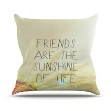 <strong>KESS InHouse</strong> Friends Sunshine Throw Pillow