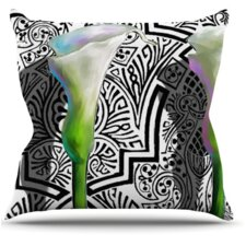 Three Lily Throw Pillow