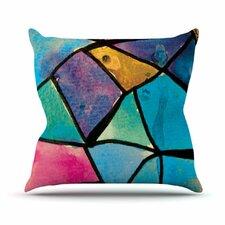 Stain Glass 2 by Theresa Giolzetti Throw Pillow