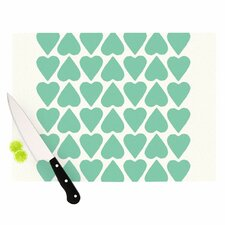 Up and Down Hearts Cutting Board