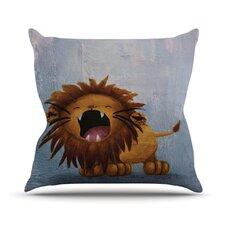 Dandy Lion by Rachel Kokko Throw Pillow