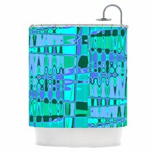 Changing Gears Polyester Shower Curtain