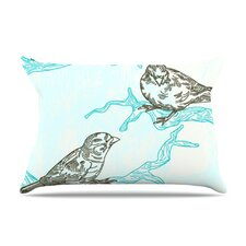 Birds in Trees Fleece Pillow Case
