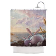 A New Perspective Polyester Shower Curtain