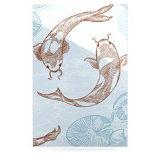 Koi by Sam Posnick Graphic Art Plaque