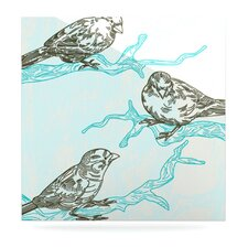 <strong>KESS InHouse</strong> Birds in Trees Floating Art Panel