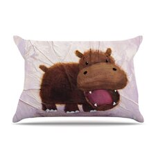 The Happy Hippo Fleece Pillow Case